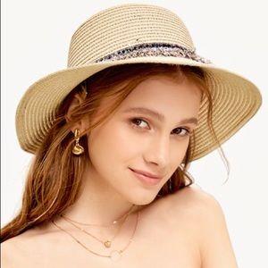 Boho Straw Round Wide Brim Statement Accent Hat